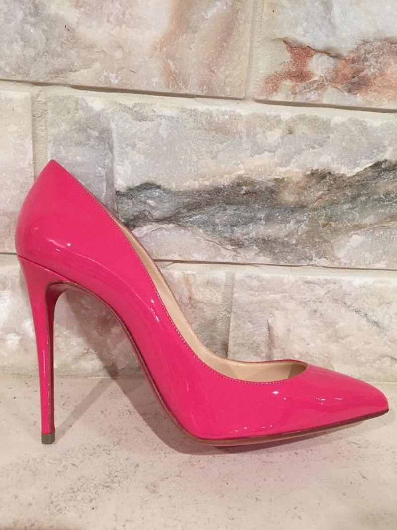 4639665db82b ... Christian Louboutin Louboutin Louboutin Pink Pigalle Follies 100 Patent  Leather Bonbon Pumps Size EU 37 ...
