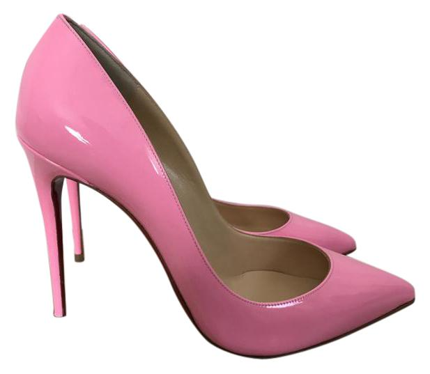 Christian Louboutin Pink Pigalle Follies Dolly Pointed Pumps Size US 9.5