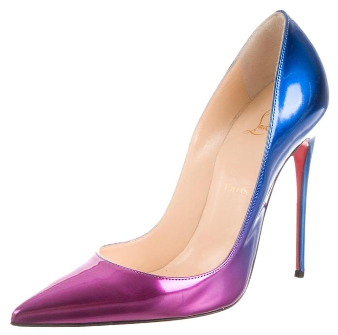 Christian Louboutin Ombre Patent Leather So Kate 38 8 Purple Pink