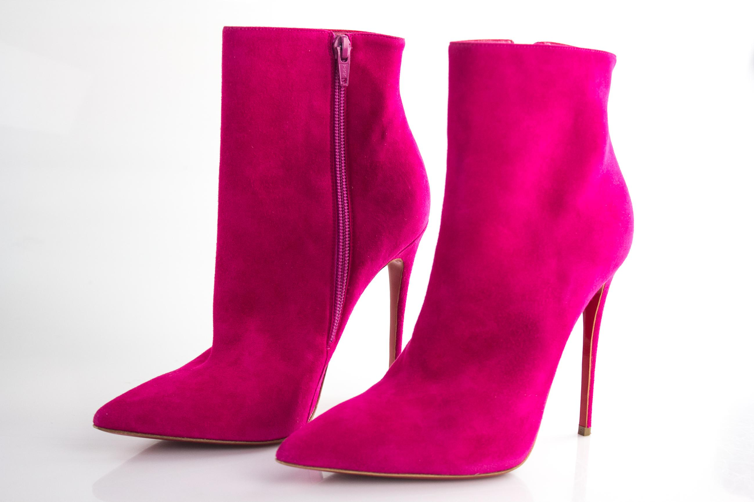 8871a6fb213 ... Christian Louboutin Pink So So So Kate 100 Boots Booties Size EU 37.5 ( Approx ...