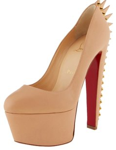 Christian Louboutin So Kate Nude Spike Platforms