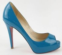 Christian Louboutin Very Prive 120mm Patent Green Jade Pumps Si Max062663 Blue Boots