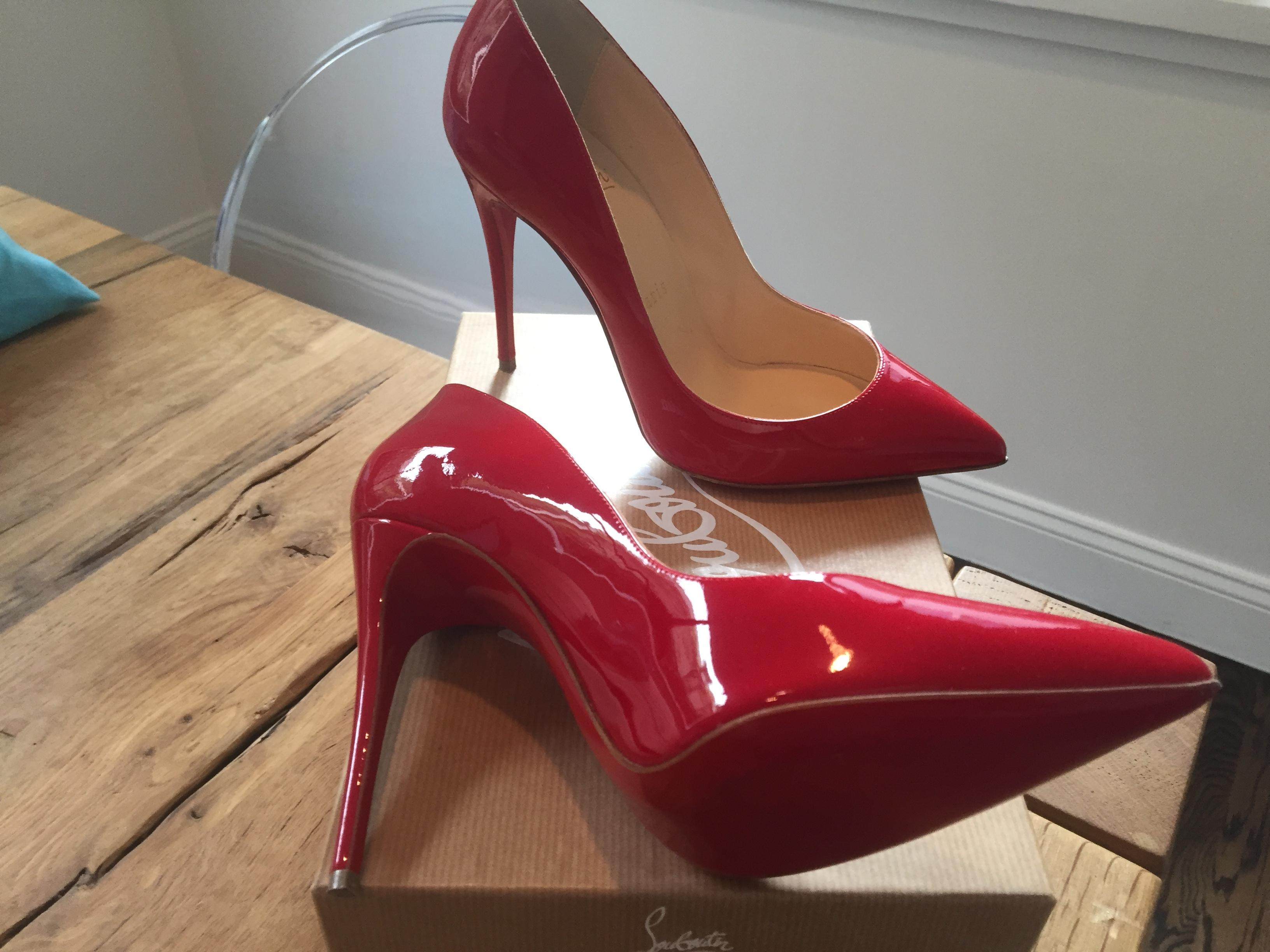 c8c0b3b736f Christian Louboutin Red New Pigalle Follies 100 Patent Patent Patent ...