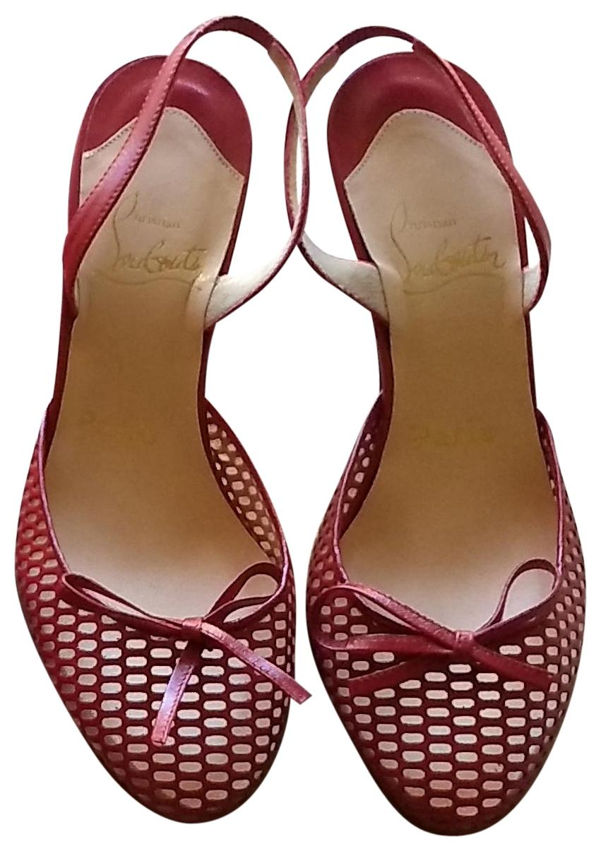 Christian Louboutin Red Quadriletta Pumps Size EU 36 (Approx. US 6) Regular (M, B)