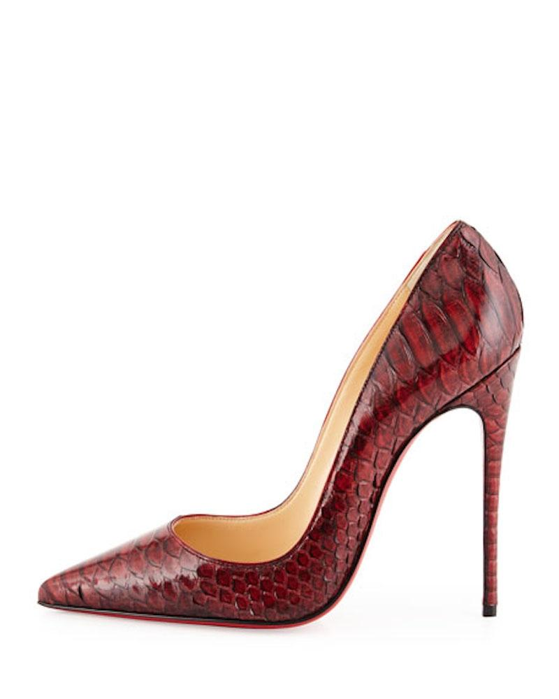f379186d1709 Christian Louboutin Red So Kate 120 Python Snake Heel Pumps Size EU 36  (Approx.