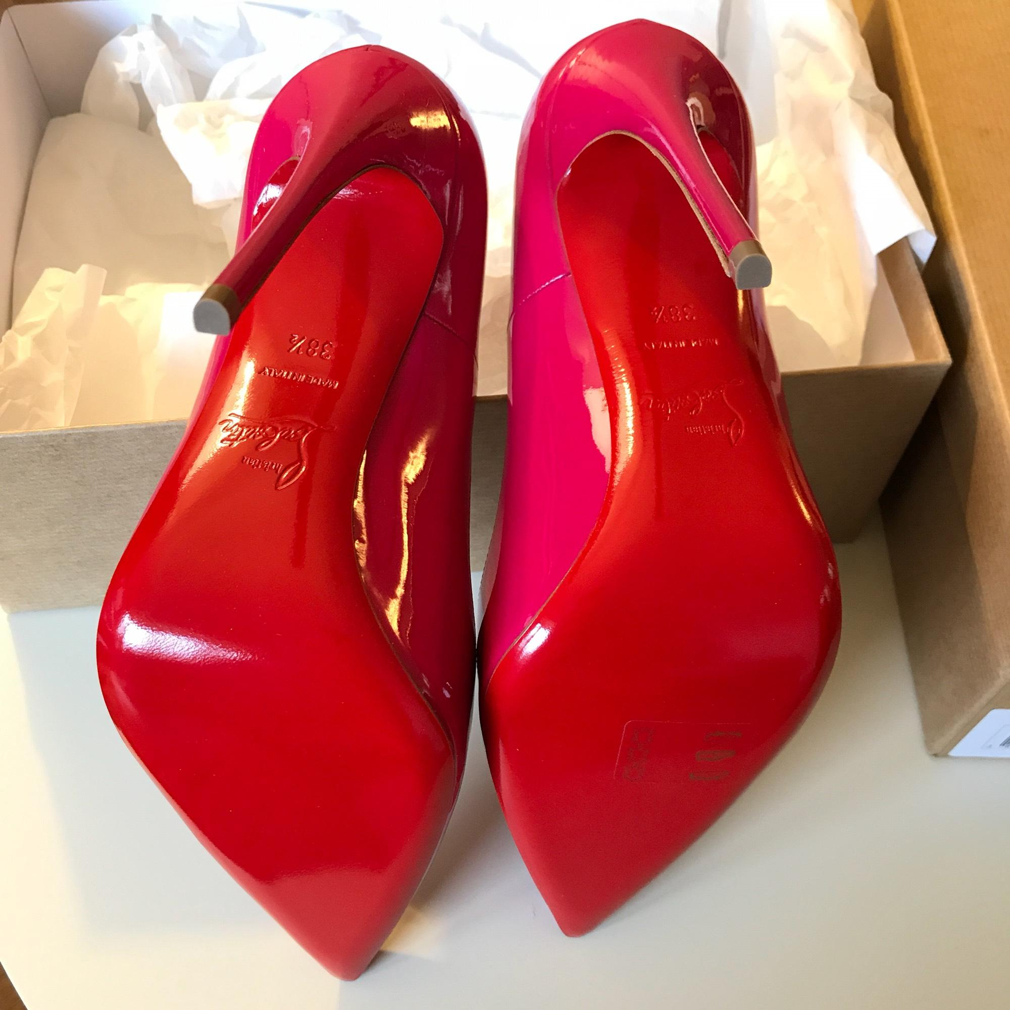 7cce741fb286 ... Christian Louboutin Rosa Pink So So So Kate Patent Leather 120mm Pumps  Size EU 38.5 ...