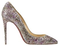Christian Louboutin Rose and Gold Pumps