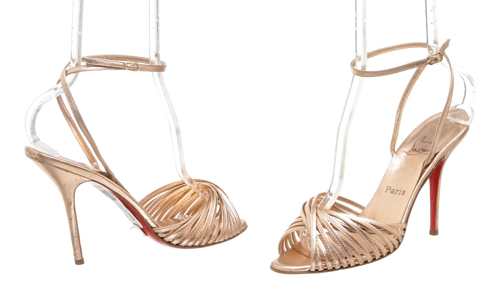 d899f0b593e6 ... wholesale christian louboutin rose gold sandals 194d7 e3b55 ...