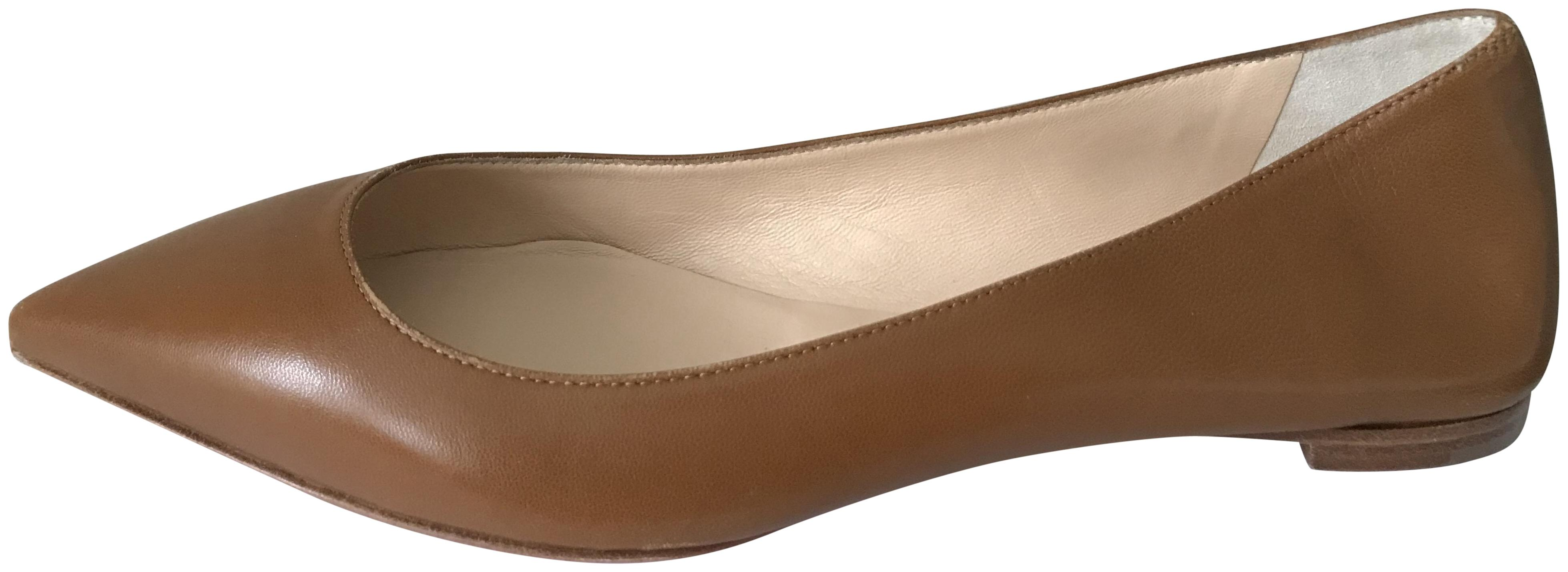 Christian Louboutin Safari (Brown) Ballalla Leather Ballerina Ballet Flats Size EU 37.5 (Approx. US 7.5) Regular (M, B)