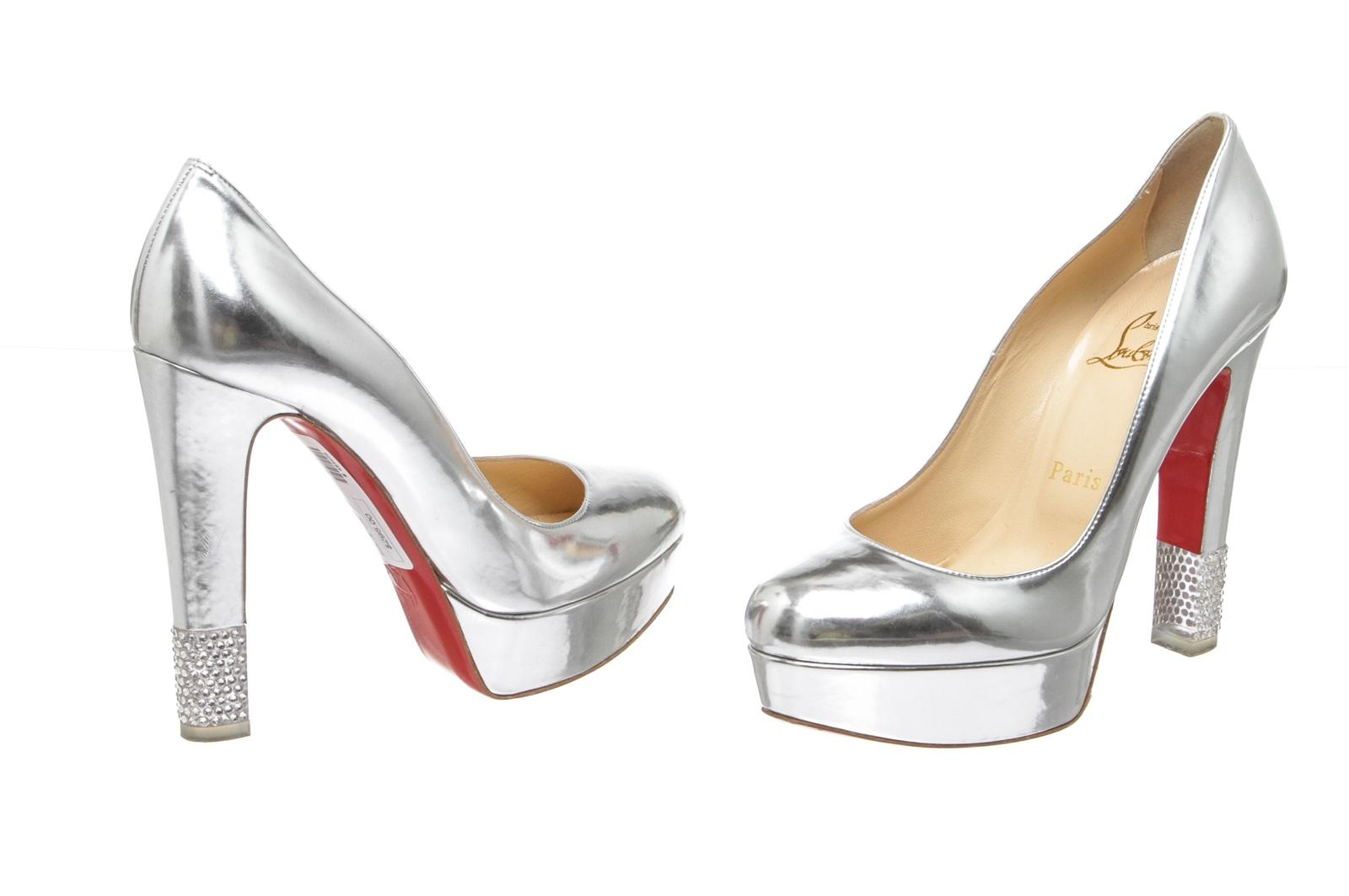 Christian Louboutin Silver 140 483408 Pumps US Size EU 36.5 (Approx. US Pumps 6.5) Regular (M, B) 36f31d