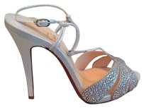 Christian Louboutin Silver Crystals White Formal