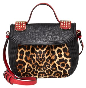 Christian Louboutin Spike Leather Red Animal Cross Body Bag