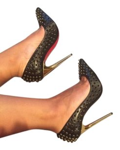 Christian Louboutin Follies Cabo 120 Heels Black Pumps