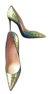 Christian Louboutin Python Snake Aquarium So Kate Blue Pumps