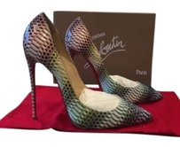 Christian Louboutin Pigalle Follies 120mm Python Watersnake Pink Pumps