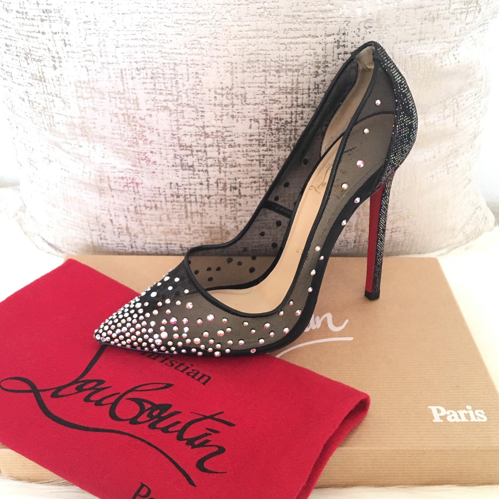 "Christian Louboutin ""Strass"" Crystal Pumps Size US 8.5 Regular (M, B)"