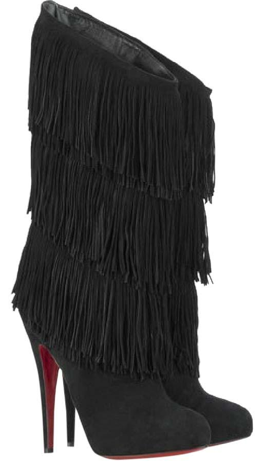 new concept db336 d75d9 Christian Louboutin Suede Black Forever Tina 36.5 36.5 36.5 ...