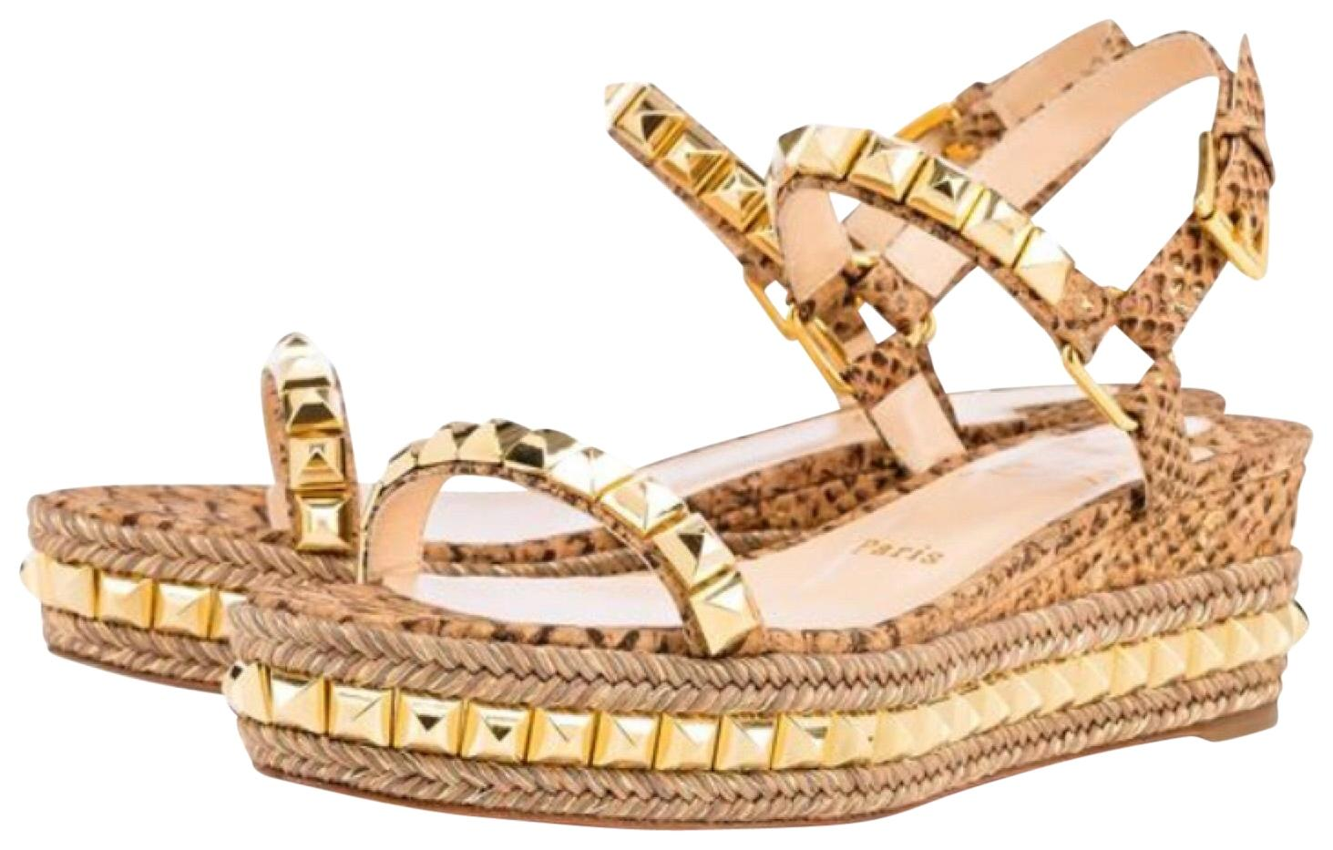 635871c3023 ... promo code for christian louboutin studded cataclou platform encore tan  sandals 4f513 facd0