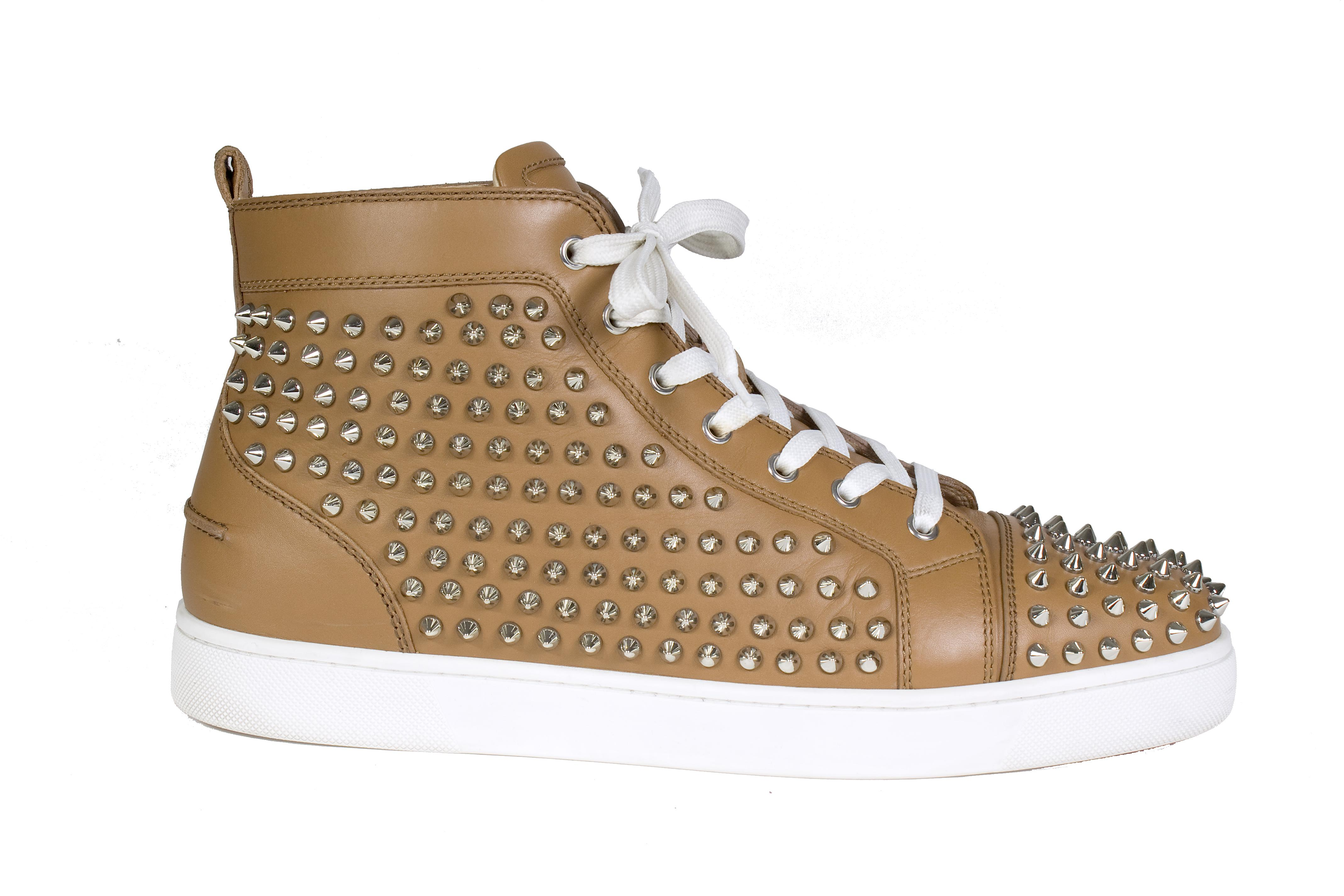 sneakers for cheap 1c5cb 305ac Christian Louboutin Hi Studded Sneakers Flats Size US 12 Top ...