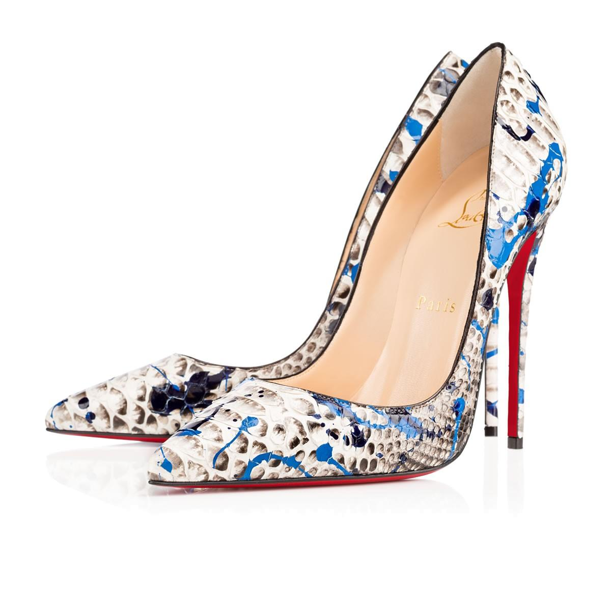 Christian Louboutin White Black Blue Grey So Kate 120 Inferno ...