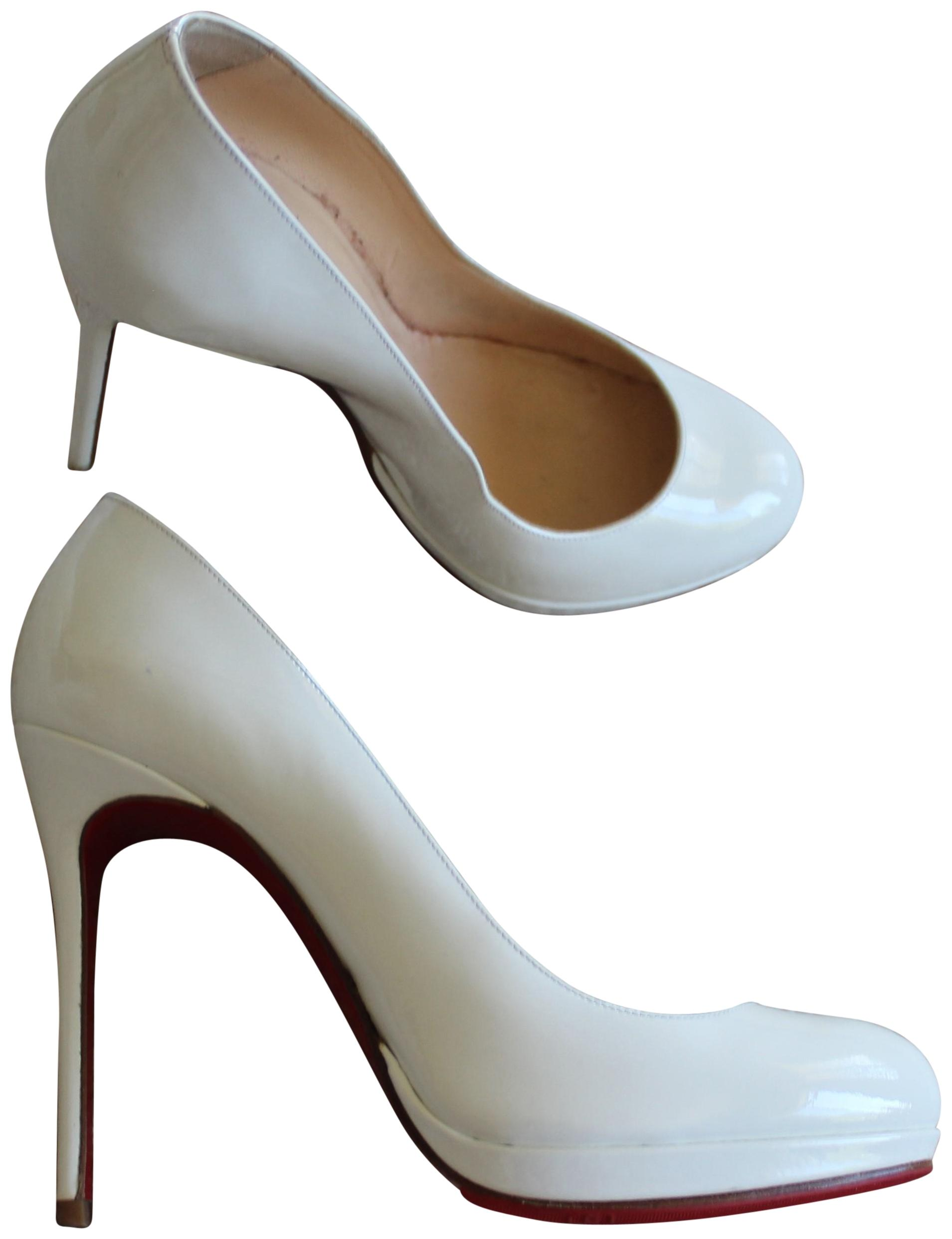 bf0b68c21f2 ... france christian louboutin filo pigalle bianca round toe new simple  white pumps dd921 aa2db
