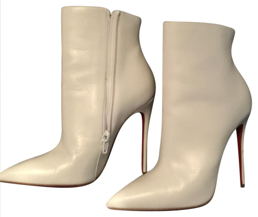 huge discount 36e90 67339 Christian Louboutin White Stiletto Boots/Booties Size US 4 ...