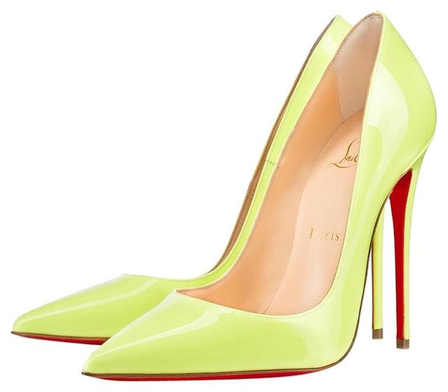 4735cb64805f Christian Louboutin Louboutin Louboutin Yellow So Kate 120 Neon Patent Thin  Heel Pumps Size EU 35.5