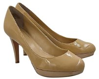 Circa Joan & David Amp Pearly Womens Nude Patent Platform Heels Beige Pumps