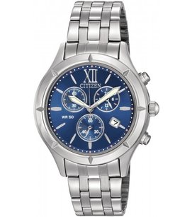 Citizen Blue Dial Ladies Chronograph Stainless Steel Watch FA0020-54L