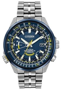 Citizen Citizen CB0147-59L Men's Promaster Radio Controlled Blue Dial Titanium Bracelet Dive Watch
