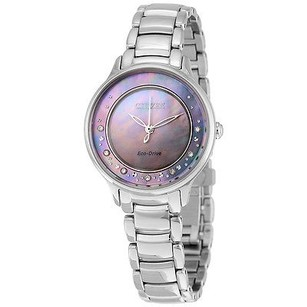 Citizen Citizen Circle Of Time Gray Mother Of Pearl Stainless Steel Ladies Watch