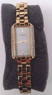 Citizen Citizen Eco-drive Ladies Silhouette Crystal Gold Watch Eg2782-53a Sold For Parts