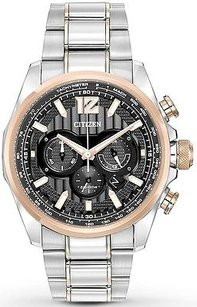 Citizen Citizen Eco-drive Shadowhawk Two-tone Chronograph Mens Watch Ca4176-55e