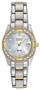 Citizen Citizen Ladies Regent Mother Of Pearl White Dial Eco-drive Watch Ew1824-57d