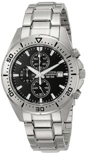 Citizen Citizen Mens Stainless Steel Chronograph Watch An3460-56e