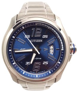 Citizen Citizen Eco Drive Blue Dial Stainless Steel Mens Watch Aw1350-83m