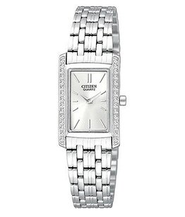 Citizen Citizen Womens Ek1120-55a Analog Display Quartz Silver Watch Links Missing