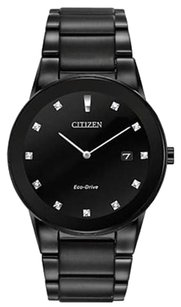 Citizen Men's Black Citizen Eco-Drive Axiom Diamond Watch AU1065-58G