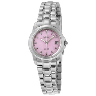 Citizen Silhouette Eco-Drive Pink Dial Stainless Steel Ladies Watch