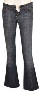Citizens of Humanity Kelly Womens Blue Distressed Pants Boot Cut Jeans