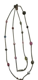 Claire's Antique look multi color bead necklace.