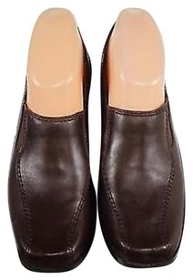 Clarks Womens Leather Bootie Heels Brown Pumps
