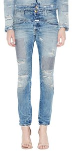 CLOSED Patch Straight Leg Jeans-Distressed