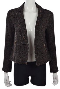 Club Monaco Womens Black Multi-Color Jacket