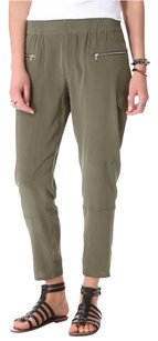 Club Monaco Capri/Cropped Pants Olive and Gold