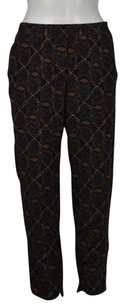 Club Monaco Womens Printed Casual 00 Silk Cropped Trousers Pants