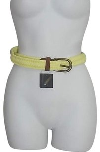 Club Monaco Club Monaco Andy Braided Waxed Leather Belt 34.50 Yellow