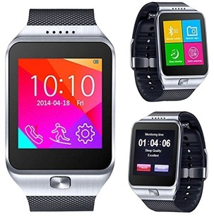 CNPGD All-in-1 CNPGD All-in-1 Watch Cell Phone & Smart Watch Sync to Android IOS Smart Phone (Silver)