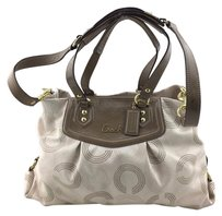 Coach Ashley Patent C Carry All W Strap Tote in Beige/ taupe