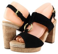 Coach Valeann Suede Black Platforms